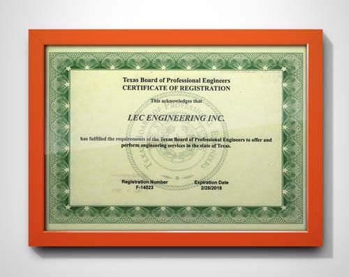 Texas Board of Professional Engineers Registration